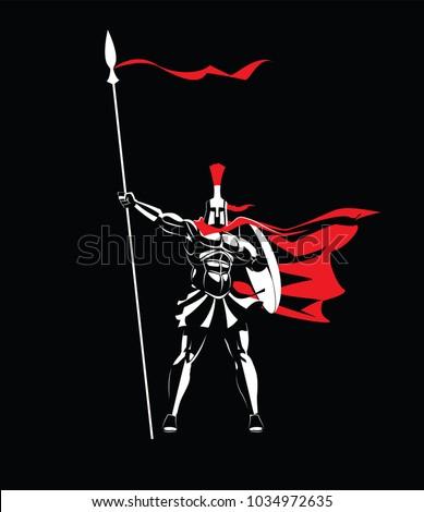 spartan warrior in a helmet