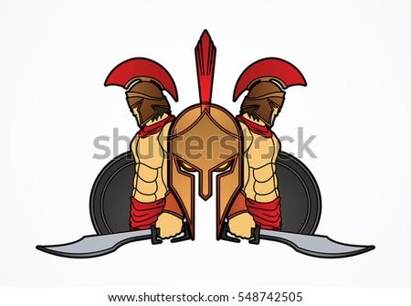 spartan warrior pose graphic