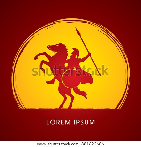 spartan warrior riders with a