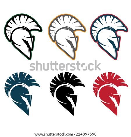 spartan warrior set vector