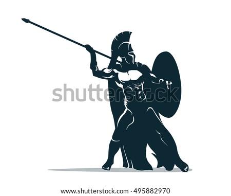 spartan warrior stylized