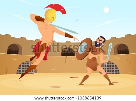 spartan warriors fighting in