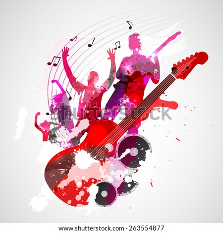 spatter music background with