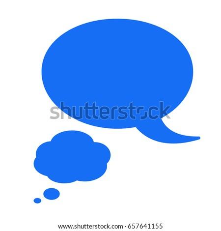 speak bubble balloon message