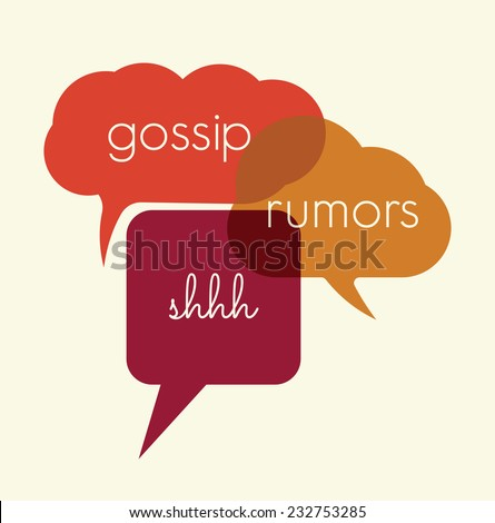speak bubbles gossip  rumors