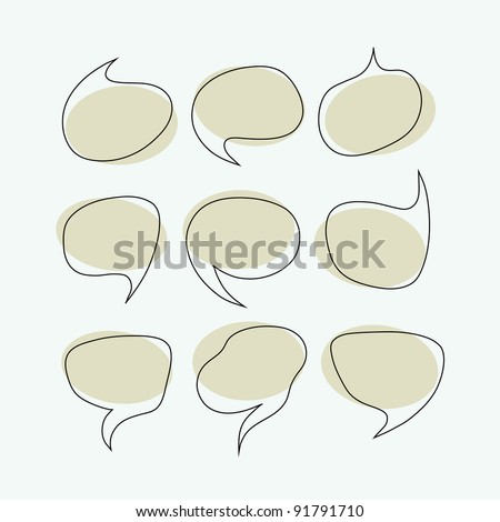 Speak bubbles vector