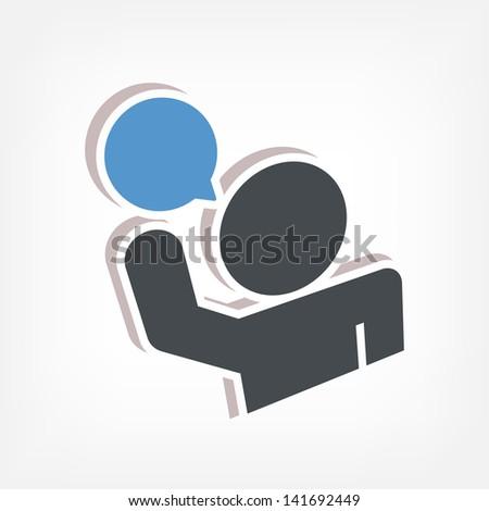 Speak icon 3d