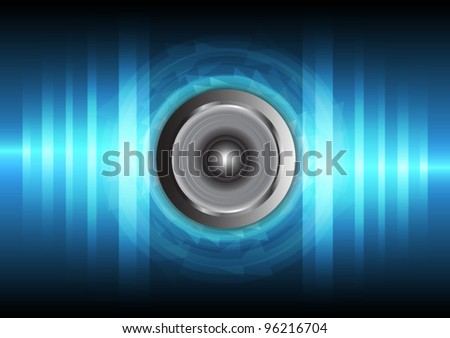 speaker and vibration sound wave vector