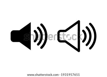 Speaker icon set. volume icon vector. loudspeaker icon vector. sound symbol Foto stock ©