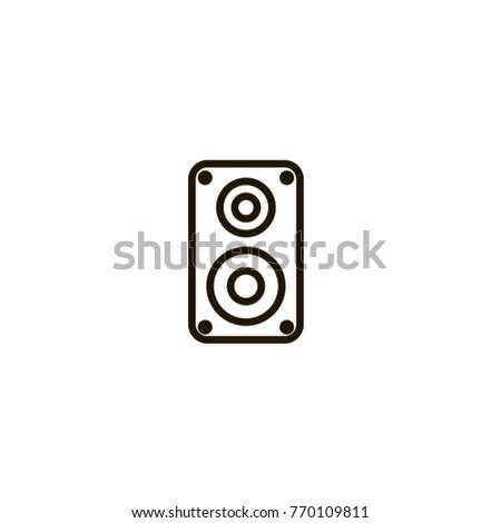speaker icon sign design