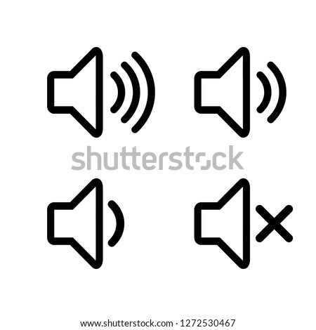 Speaker icon vector. Volume icon. Loudspeaker icon vector