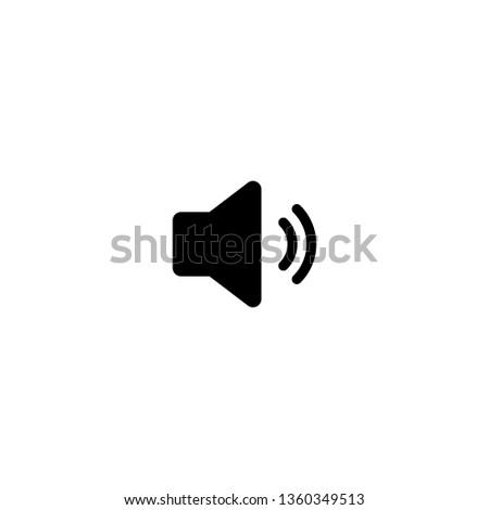 Speaker icon vector. Volume icon. Loudspeaker icon vector. volume button