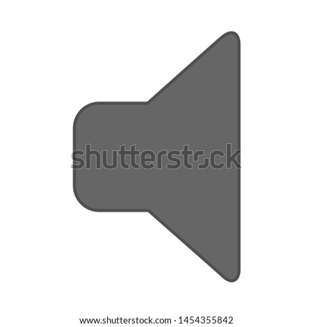 speaker mute icon. flat illustration of speaker mute. vector icon. speaker mute sign symbol