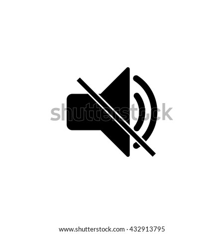 speaker mute icon ui vector eps jpg picture flat app