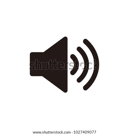 Speaker sound vector icon isolated on white background