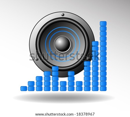 Speaker vector icon - stock vector