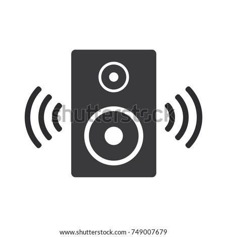 speaker vector icon, audio speaker icon
