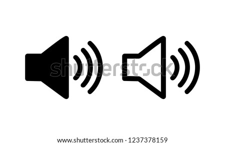 Speaker vector icon isolated on white background