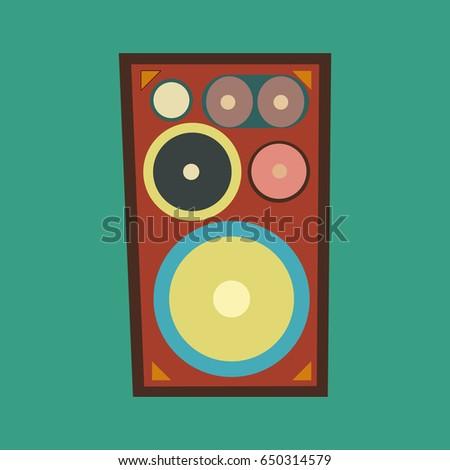 speaker vector illustration...