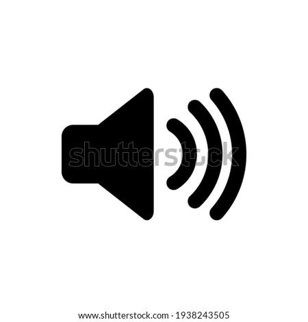 speaker volume flat vector icon.  for graphic design, logo, web site, social media, mobile app, Eps 10 Foto stock ©