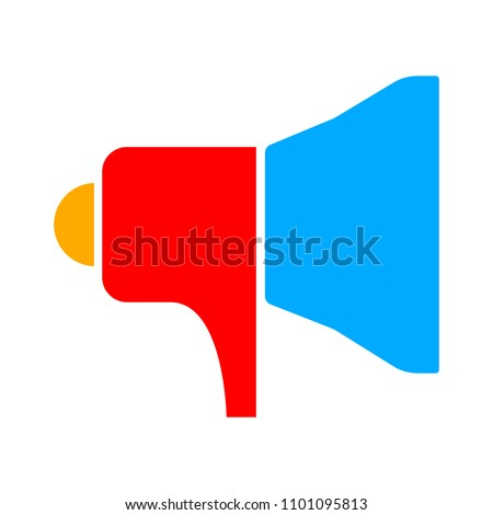 Speaker volume icon - audio voice sound symbol, media music - vector megaphone icon