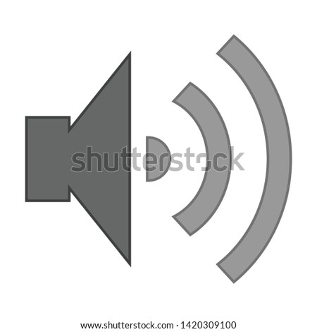 Speaker Volume icon. flat illustration of Speaker Volume vector icon for web