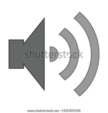 Speaker Volume icon. flat illustration of Speaker Volume vector icon for web