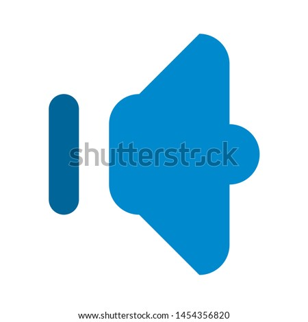 speaker volume icon. flat illustration of speaker volume. vector icon. volume sign symbol