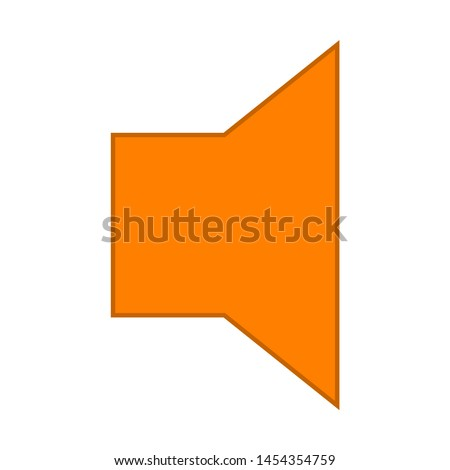 Speaker Volume sign. flat illustration of Speaker Volume. vector icon. Speaker Volume sign symbol