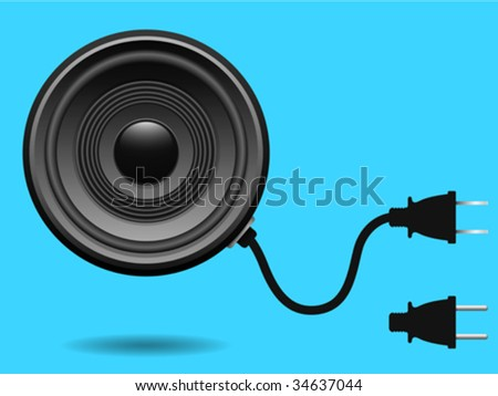 Speaker with electric plug