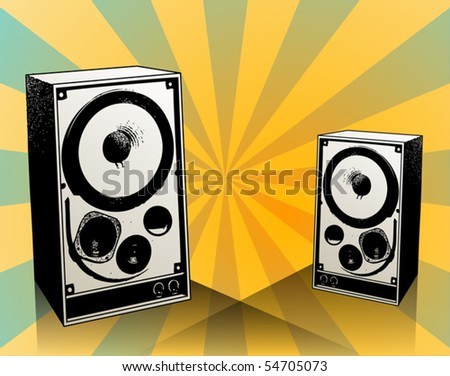 Speakers, vector illustration
