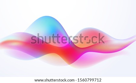Speaking Colorful motion sound wave illustration vector background Stock photo ©