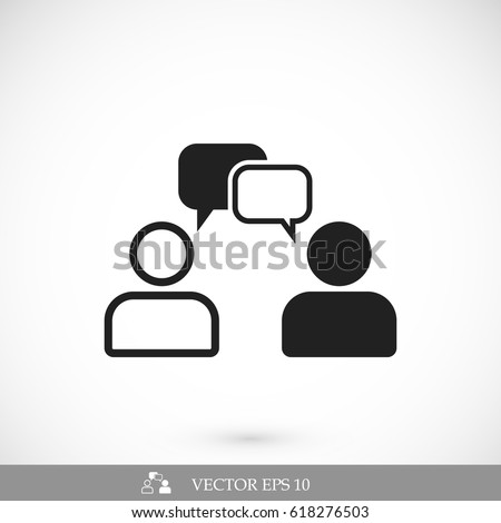 Shutterstock speaking of people, the chat icon stock vector illustration