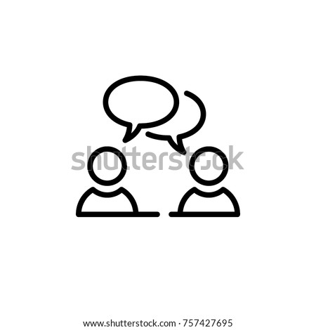 speaking people icon vector
