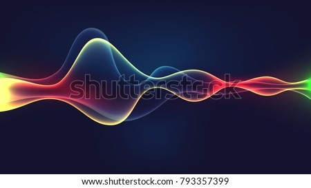 Speaking sound wave illustration vector