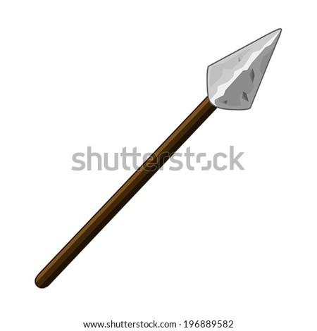 spear isolated illustration on