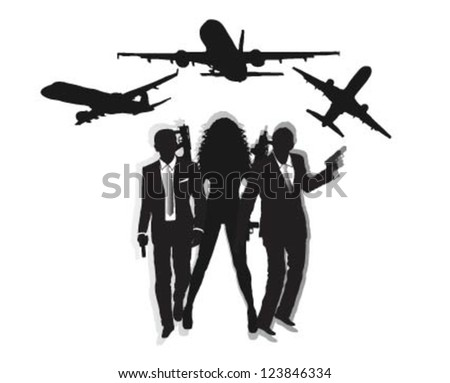 special agents and airplane