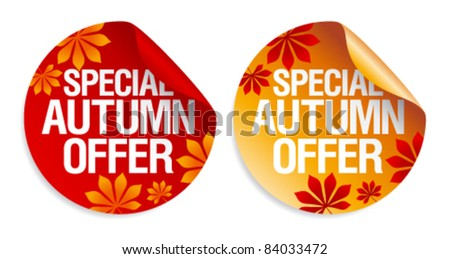 Special autumn offer stickers set.