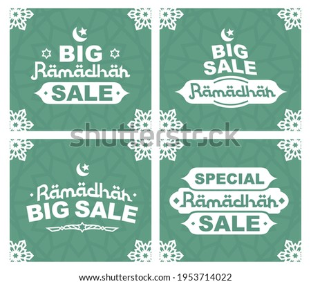 Special big sale for ramadhan, STICKERS RAMADHAN big sale, flash sale, banner vector, super sale ramadhan green color