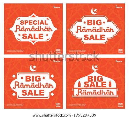 Special big sale for ramadhan, STICKERS RAMADHAN hot sale, flash sale, banner vector, super sale ramadhan