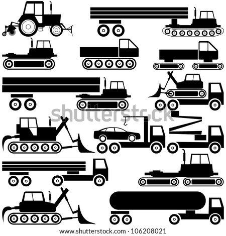 Special cars  technique. vector - stock vector