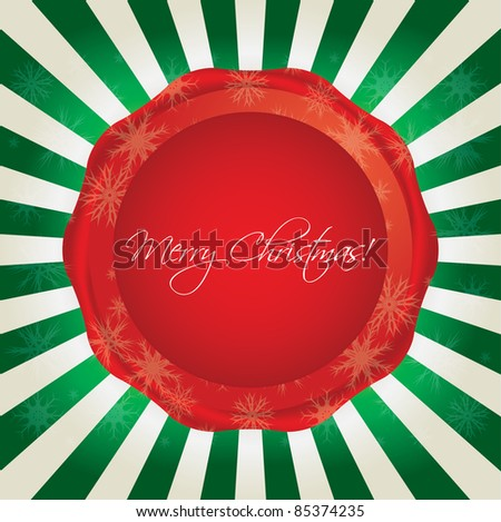 special Christmas background - stock vector