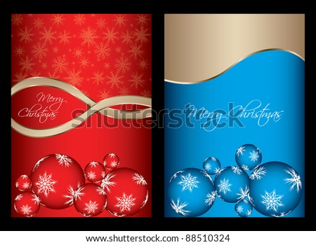 special Christmas cards. Vector illustration for design.