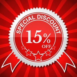 Special Discount 15% Off