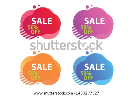 Special Discounts, Sales Collection Tags, discount balloons, discount sets, balloon vectors, editable, bubble discount template