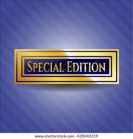Special Edition golden emblem or badge