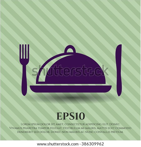 Special Food icon vector illustration