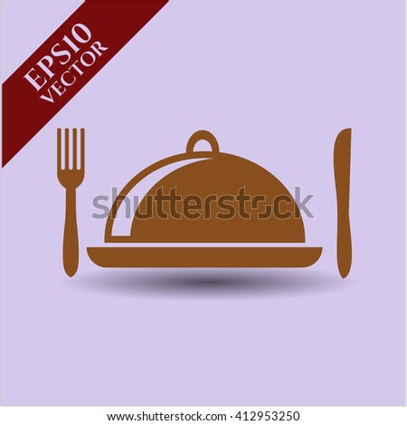 Special Food icon vector illustration