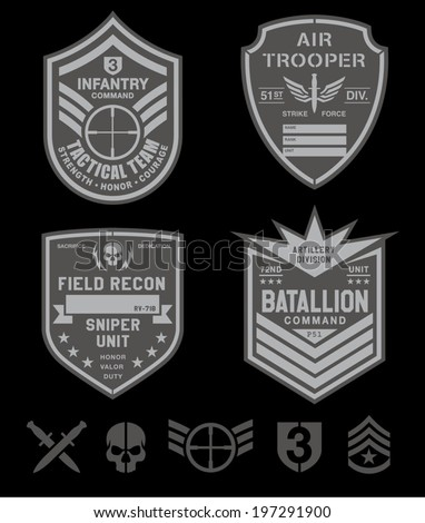 special forces patch set