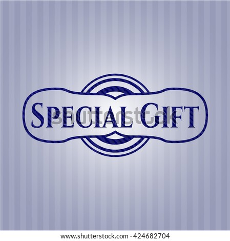 Special Gift with jean texture